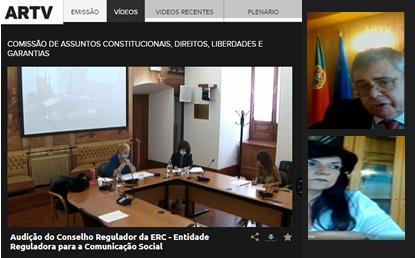 ERC em audição no Parlamento