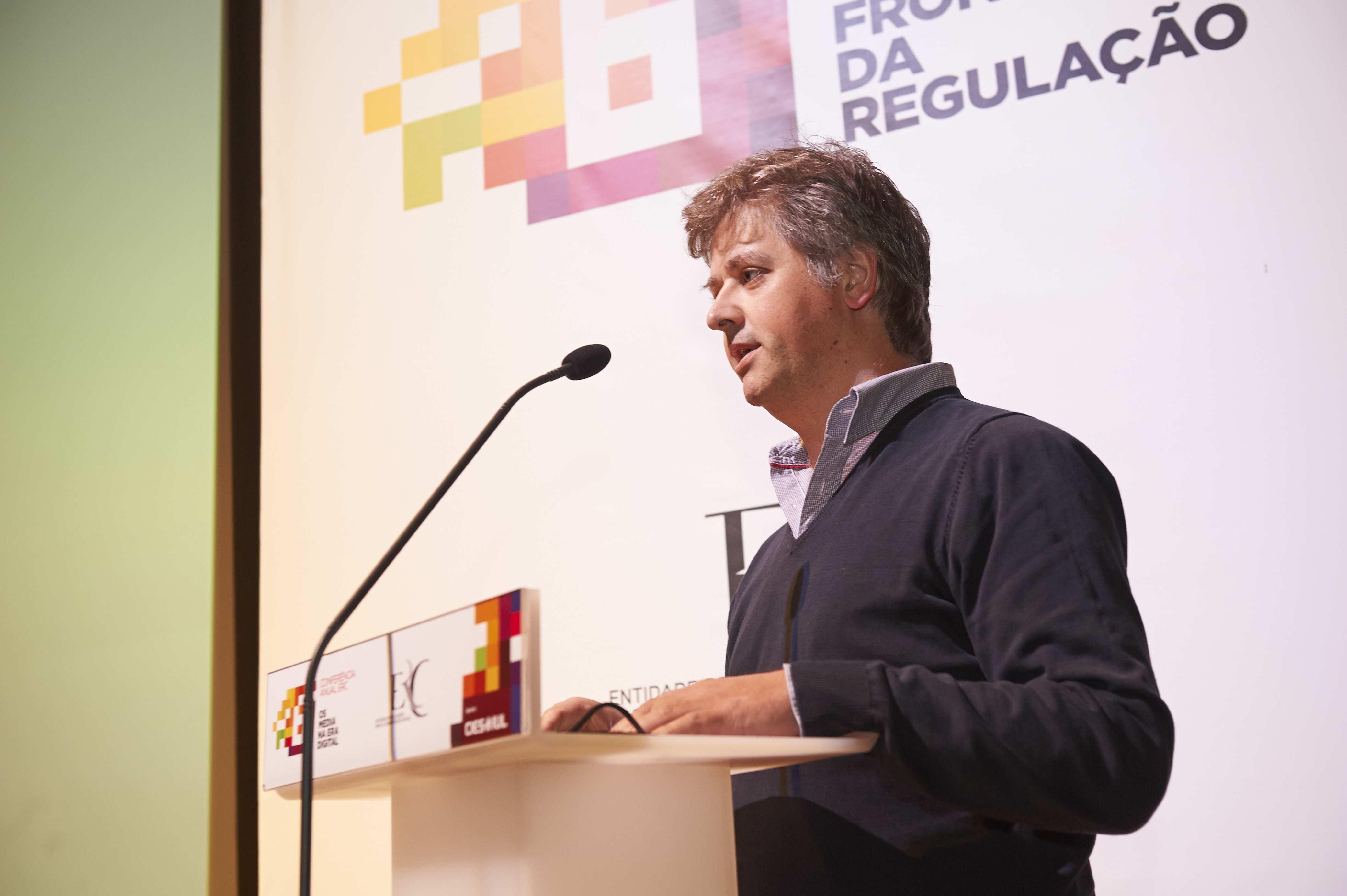 Celso Martinho Diretor-Geral do Portal Sapo na sua intervenção.
