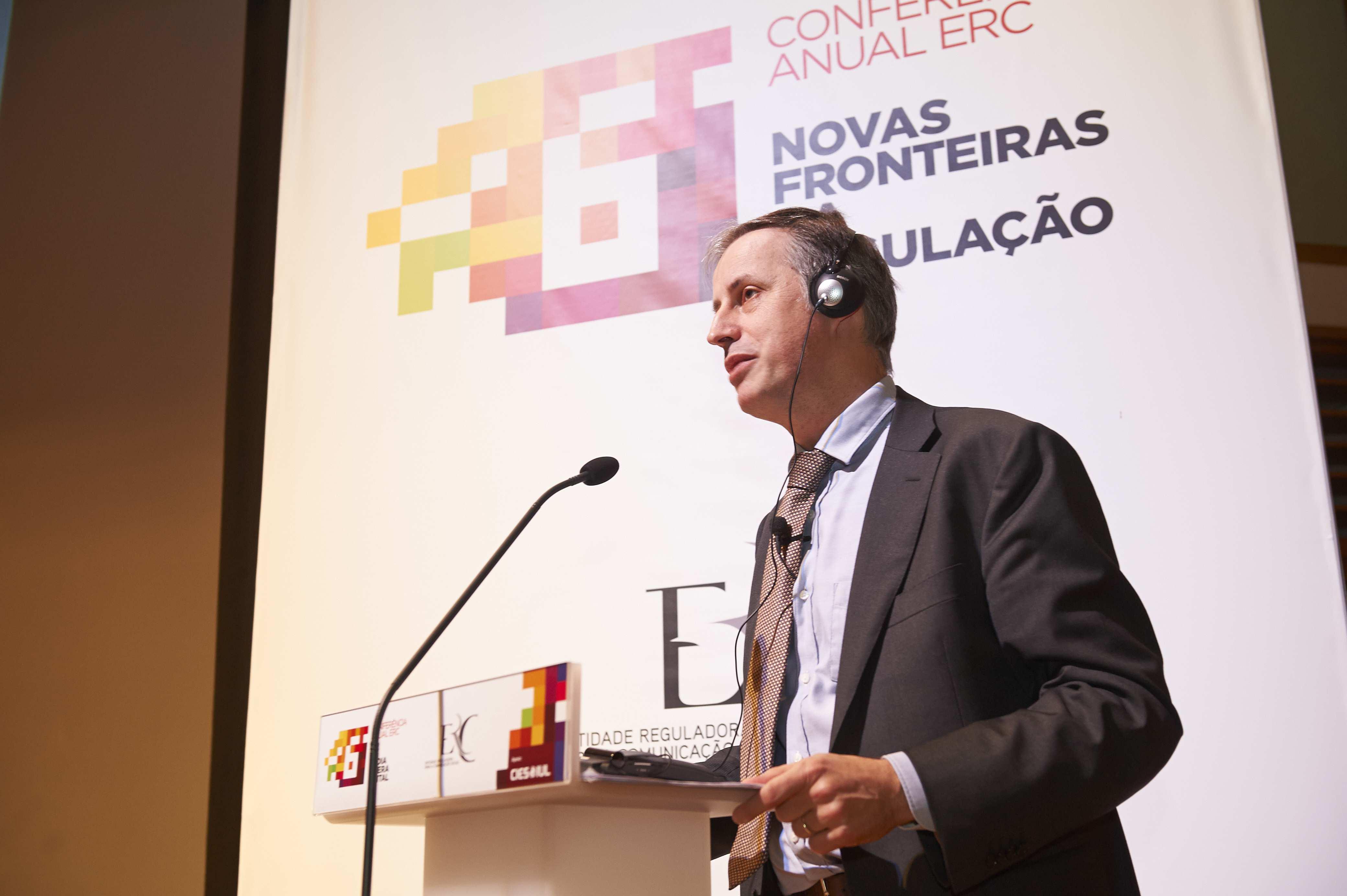 Bernardo Herman Diretor-Geral Conseil Supérieur de l'Audiovisuel – Bélgica, na sua intervenção.