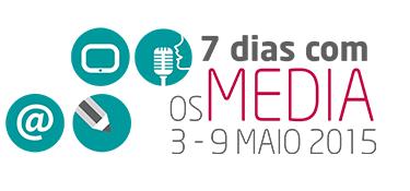 Logótipo iniciativa 7 dias com os Media