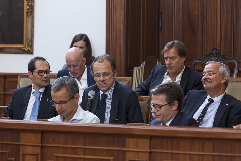 Paulo Nunes de Almeida, Presidente do Conselho Geral da AEP, a realizar o seu comentário.