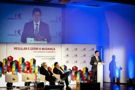 Carlos Magno, Presidente do Conselho Regulador da ERC, a discursar na Sessão de Abertura.